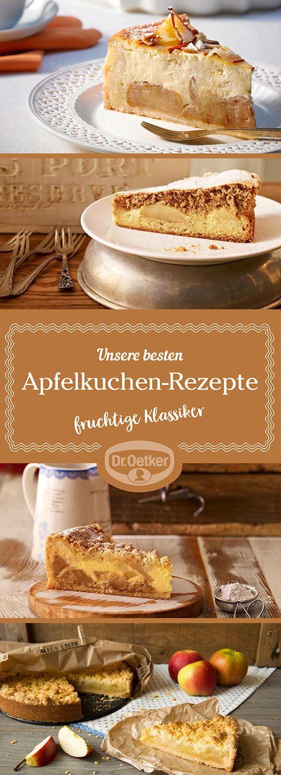 Entdecken Sie weitere leckere Apfelkuchen-Rezepten, die von der Dr. Oetker Versuchsküche entwickelt wurden.