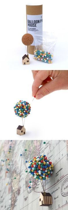 DIY CRAFTS  MORE : Photo Awesome little house it reminds me so much of that movie up so cute perfect to sell or even keep in your home hanging from something, so easy and cheap to make!