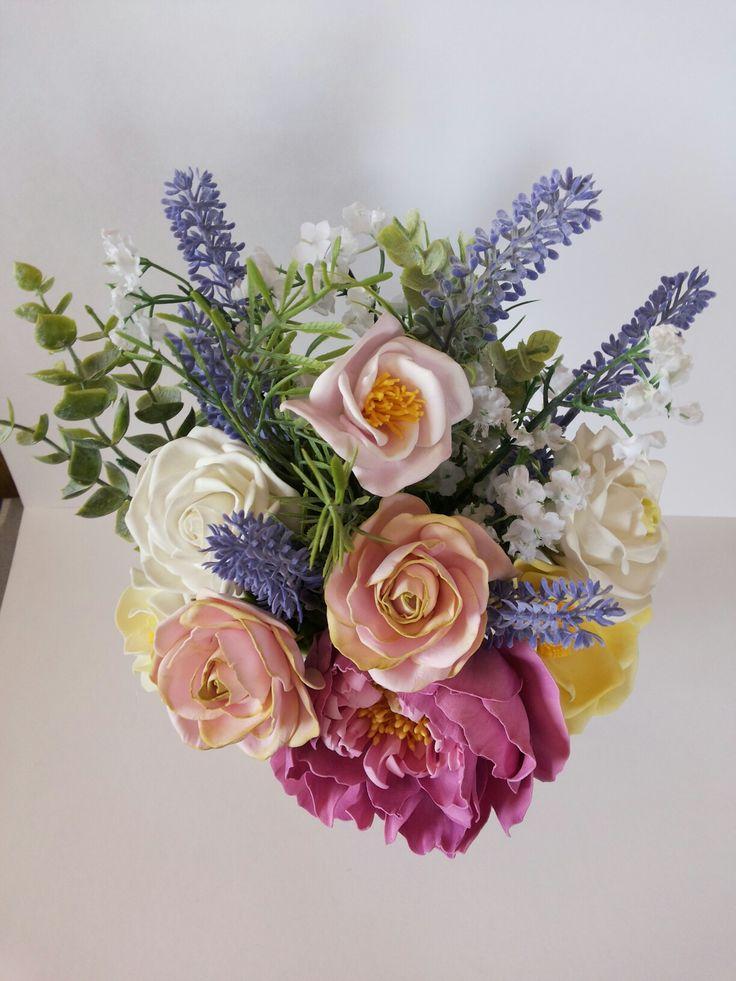 Цветы из фоамирана.