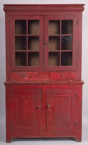 Red Cupboard, mid-19th century..~♥~