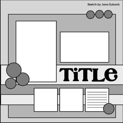 scrapbook layout by frances