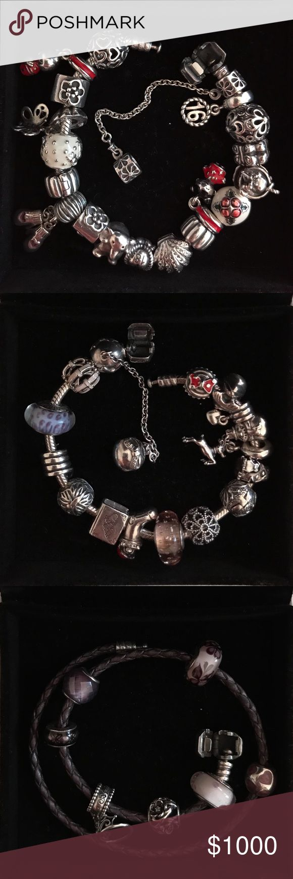 PANDORA Sale! ✨ All charms and bracelets are authentic, in great condition and preowned, ✨ Bracelets are on sale too- bundle or separate ✨  Majority of the charms are retired/discontinued, ✨ Comment if interested in any of the charms or bracelets- OFFERS WELCOMED! Pandora Jewelry Bracelets