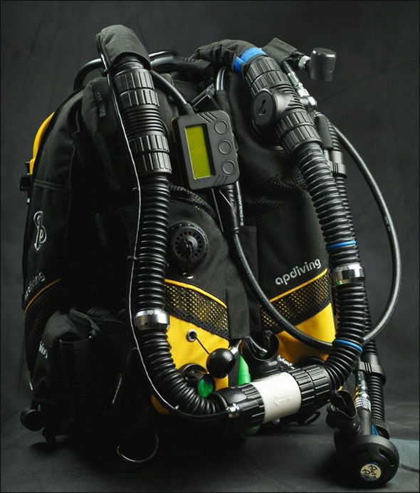 Rebreather - The front view of Inspiration rebreather
