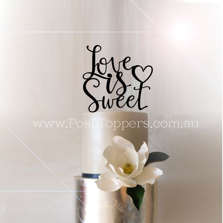 Love is Sweet with Heart - Wedding Cake Toppers Australia