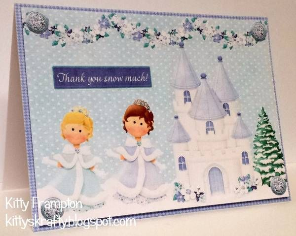Snow princess and castle card...wouldn't we all like to be in this scene! FQB - Snow Princess Collection