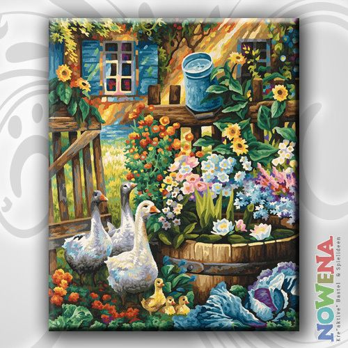 Malen Nach Zahlen Gänse Im Garten SCHIPPER 40x50 Neu OVP | eBay