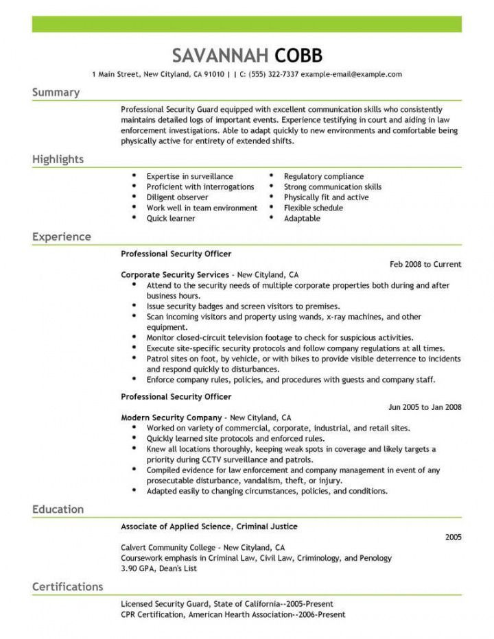 Explore Our Image Of Security Officer Job Description Template For Free Resume Examples Job Description Template Cv Format For Job