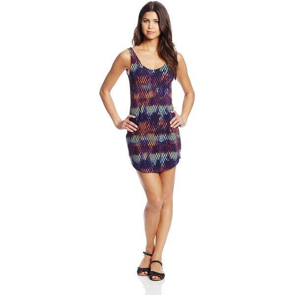 Hurley Juniors Tomboy Dress (88 BRL) ❤ liked on Polyvore featuring dresses, hurley, hurley dresses, scoop back dress, slim fit dress and slimming dresses