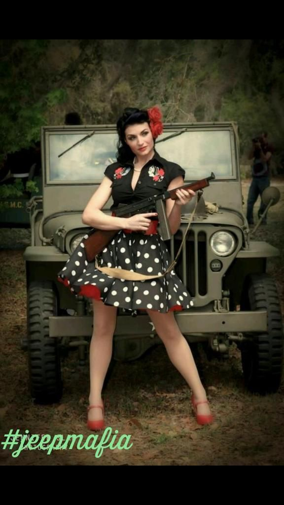 images  classy retro jeep pinup girls  pinterest daisy dukes  garand  pin