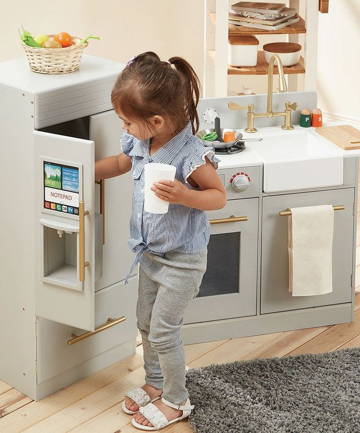 Take a look at this Little Chef Chelsea Retro Wooden Play Kitchen Set today!
