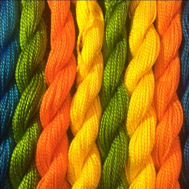 Pearlized cotton embroidery floss