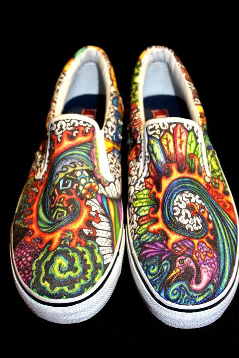 Custom Sharpie Shoes by ArtsByJoanna on Etsy, $100.00