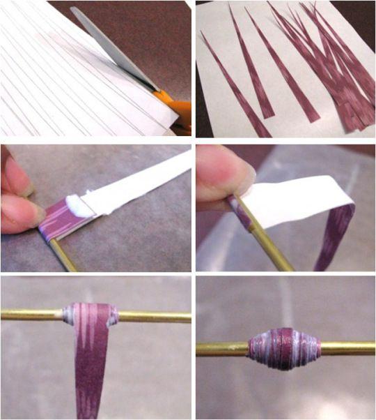 Aprenda como fazer Bijuterias com Beads (contas) de Jorna ou Revistas Reciclados! / Faça você mesmo / DIY / How to Make Paper Beads from Rolled Paper: Fazer Bijuteria, Mesmo Bijuteria