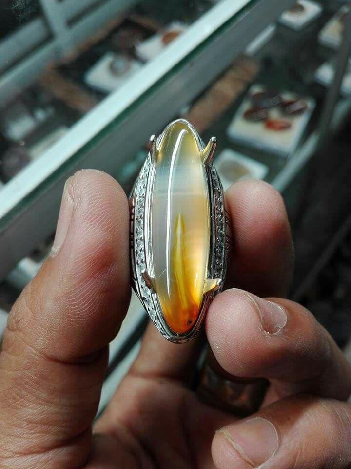 Sodo calsedony preciose stone from indonesia Inkusion sodo