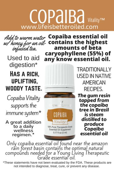 Copaiba Vitality Young Living Essential Oils Pinterest