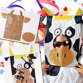 Ippopotamo, mucca, elefante... segui le istruzioni per creare queste maschere facilissime e low cost