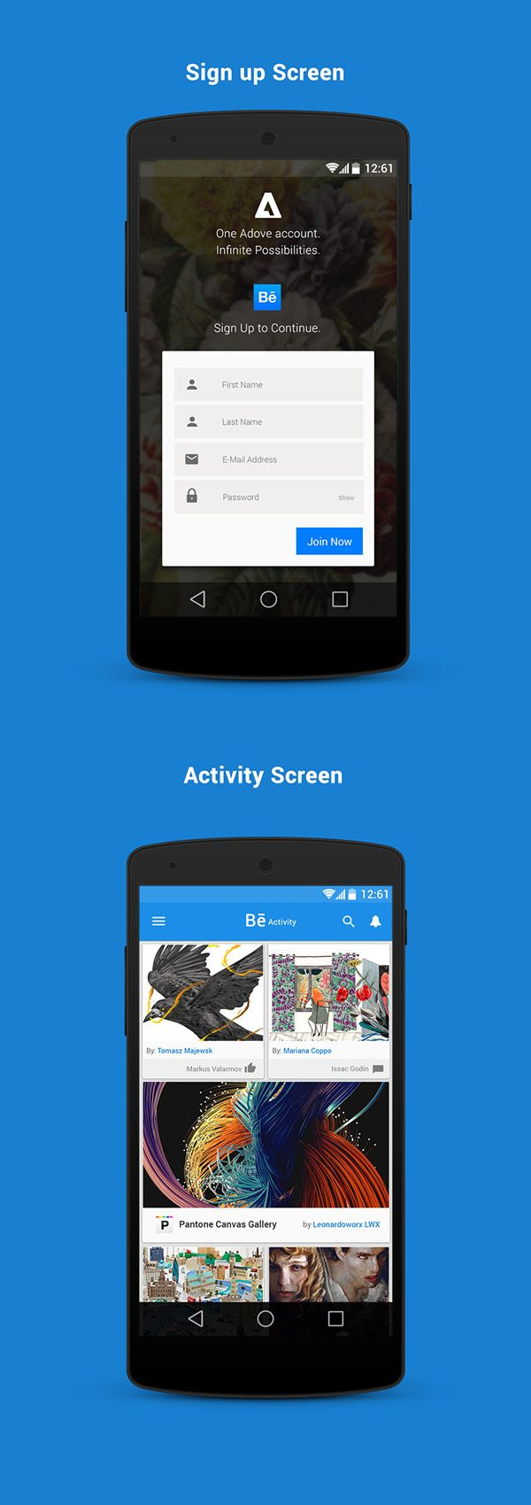 Behance Android L Redesign by rahul das, via Behance