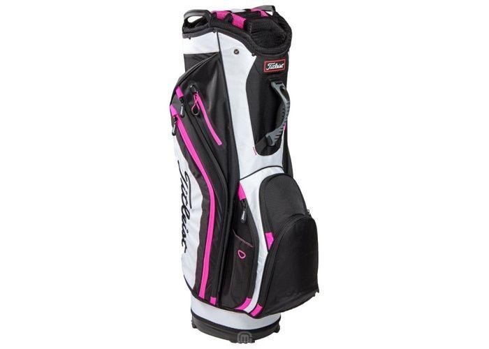 TimeForGolf - Titleist bag cart Lightwieght černo bílo růžový