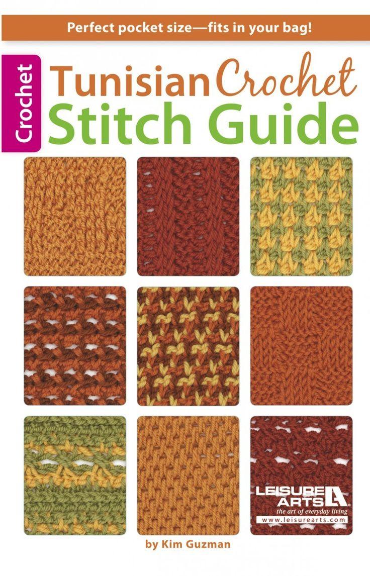 Leisure Arts - Tunisian Crochet Stitch Guide eBook, $7.99 (http://www.leisurearts.com/products/tunisian-crochet-stitch-guide-ebook.html)