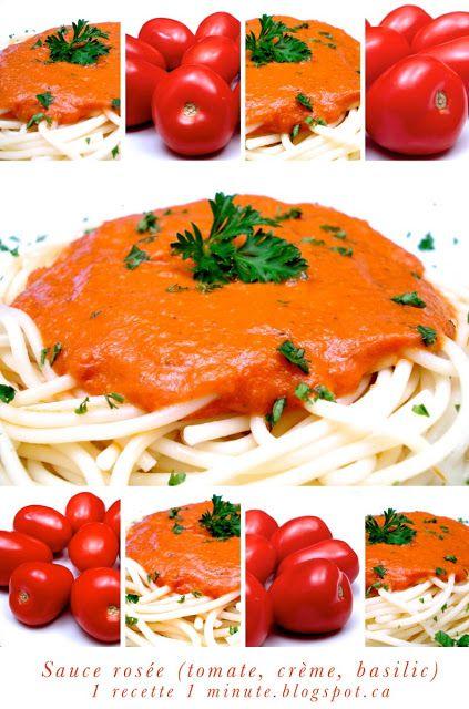 Recette Populaire:  la Sauce Rosée (Tomate, Crème, Basilic)