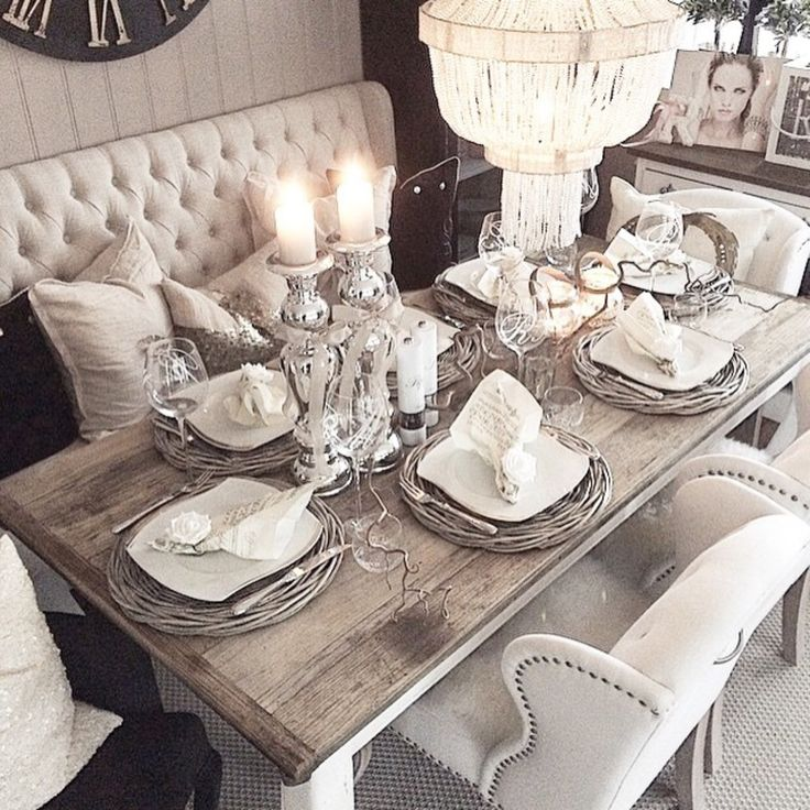 109 best images about home rustic glam on pinterest for Glam dining room ideas
