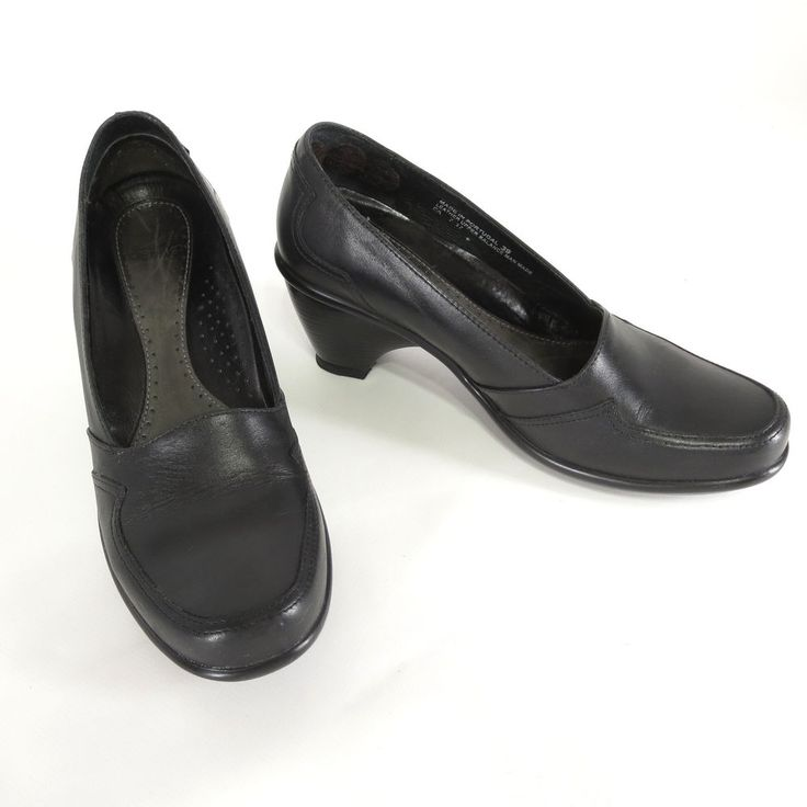 Dansko 39 Black Leather 9 US Pumps Slip On Career Heels Womens Dress Shoes #Dansko #PumpsClassics #WeartoWork