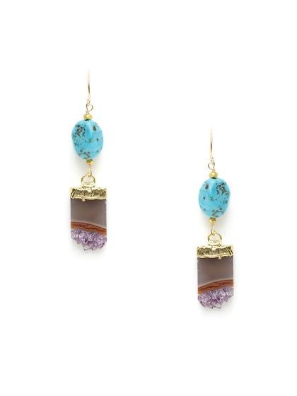 Alanna bess jewelry turquoise & amethyst stalactite drop earringsAlanna Bess, 128 Gilt, Drop Earrings, Earrings 128, Gilt Com, Clothing Makeup Hair, Makeup Hair Clothing, Jewelry Turquoise, Bess Jewelry