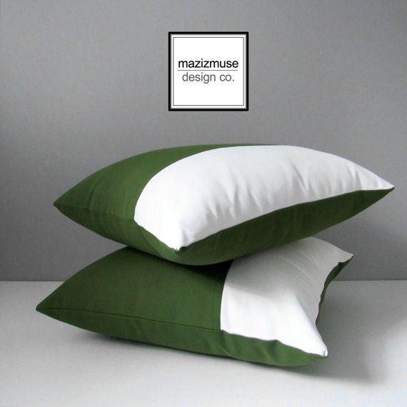 Outdoor Pillows Modern Design : 17 Best images about Green - Modern Pillows by Mazizmuse Design Co on Pinterest White pillow ...