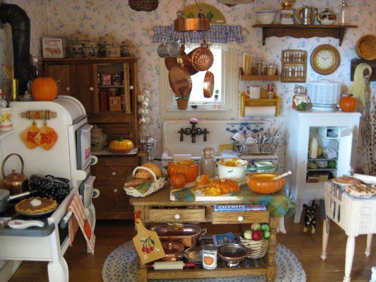 Old Farm House  Miniature Dollhouse  Picture