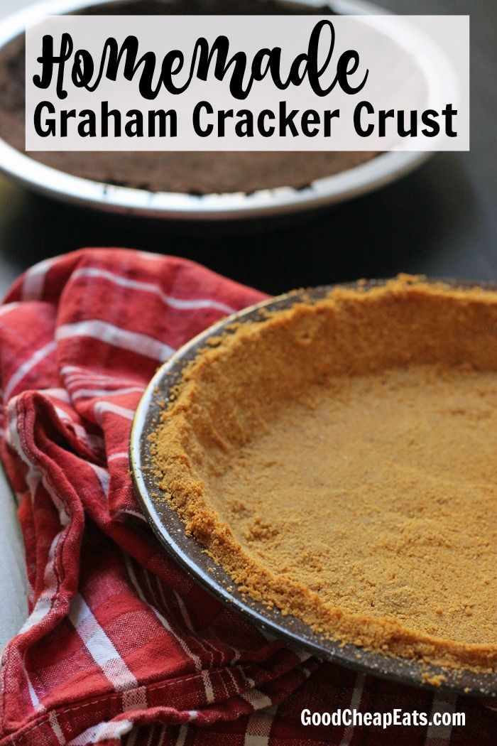 Homemade Graham Cracker Crust   Good Cheap Eats - You don't need to rely on commercial pie crusts this season. You can make your own Homemade Graham Cracker Crust as easy as pie.