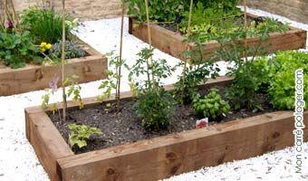 Un jardin zen avec le carré potager