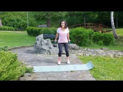 Efektívne cvičenie pre ženy na krásne a vypracované sexi ruky - YouTube