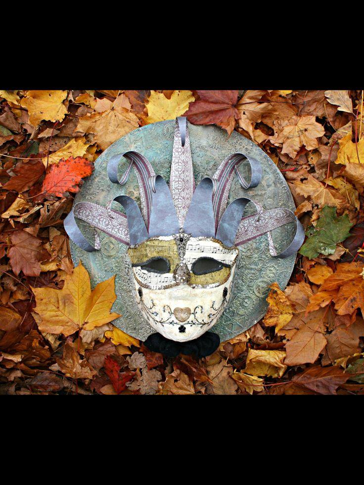 Mixed media Mask on hardboard
