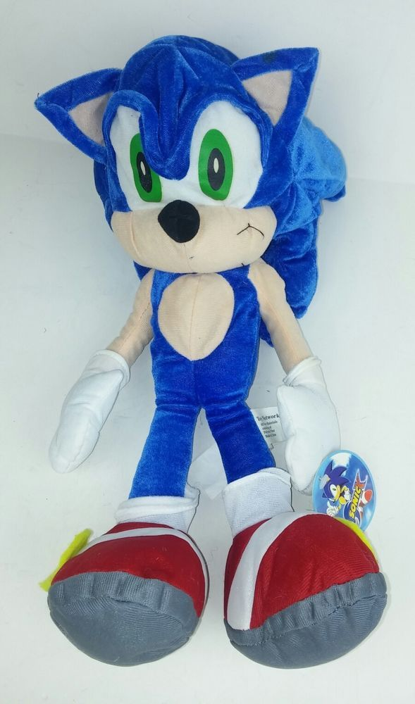 Sonic The Hedgehog Sega 16 Plush Toy Ma 0976 Stuffed Gamer Collector Flaws Collectable Plush Plush Stuffed Animals Sonic The Hedgehog