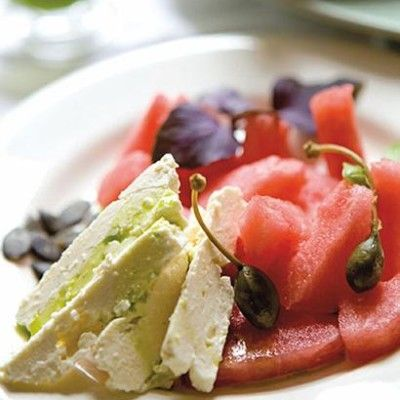 Taste Mag   Watermelon and feta salad with basil-infused oil @ http://taste.co.za/recipes/watermelon-and-feta-salad-with-basil-infused-oil/