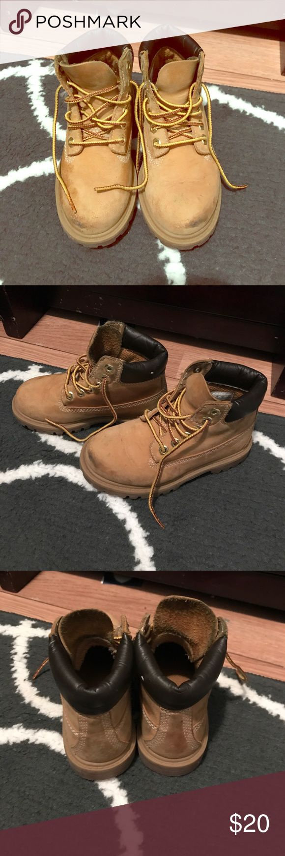 Boy's Timberland boots Authentic toddler boy's Timberland boots size 10. Does have some wear to them but they still have a lot of life left in them. Timberland Shoes Boots