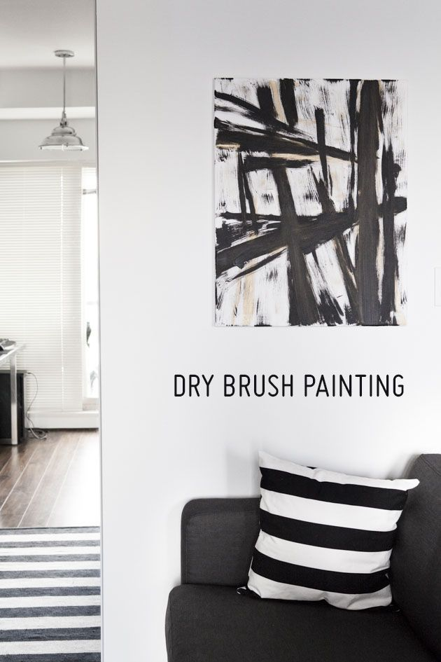 Decorate your Apartment: Dry Brush Painting