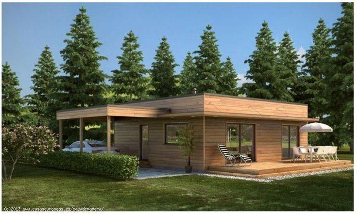 CASAS EUROPEAS - Casa de madera, Mediterranea 96m2 en Stock por 37.000€