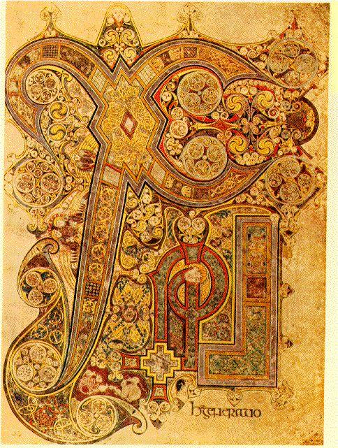 Book of Kells ChiRho Folio 34R - Book of Kells - Wikimedia Commons