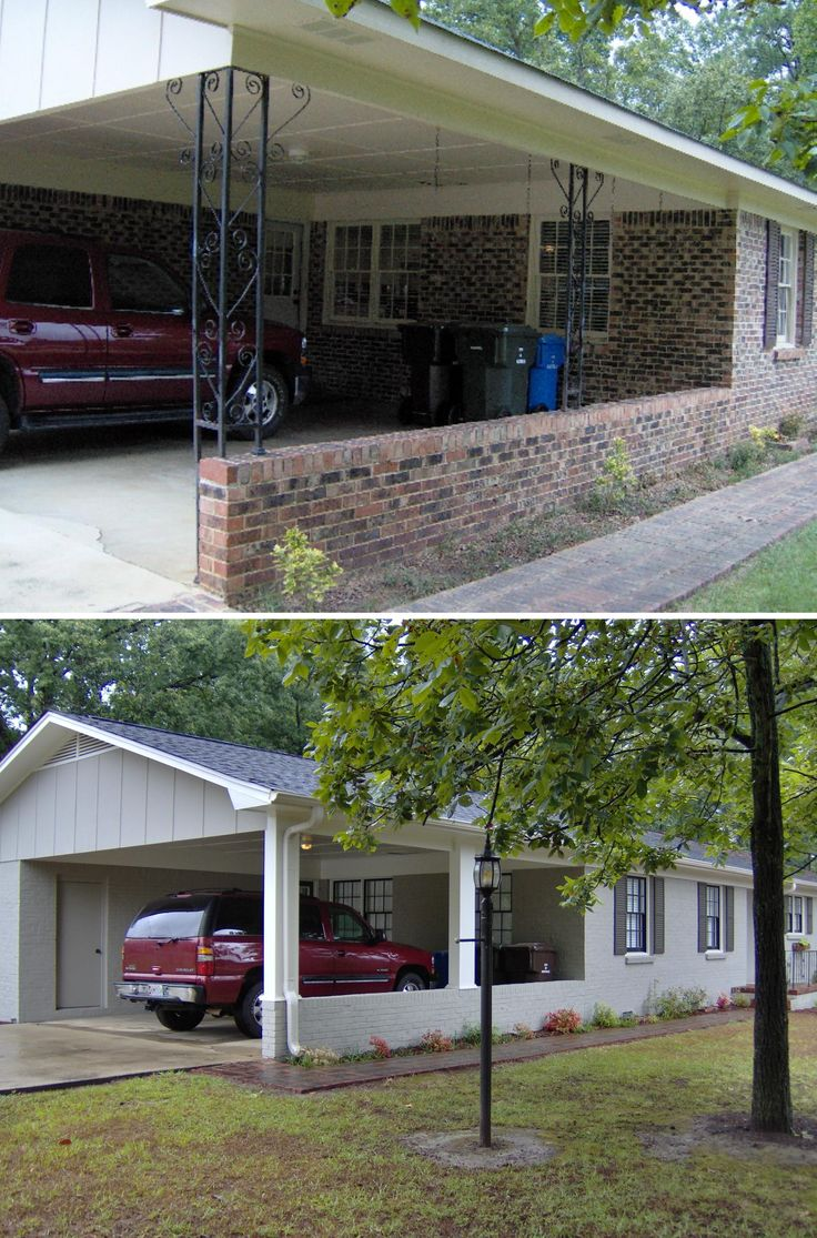 Best 25 brick ranch ideas on pinterest painted brick for Brick carport designs