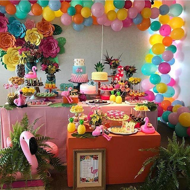 Festa Flamingo. Por @scottiproducoes #encontrandoideias #blogencontrandoideias #fabiolateles