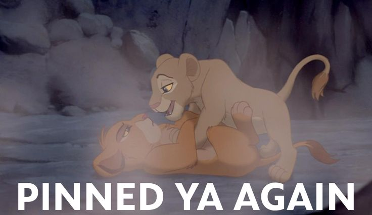 """""""Pinned ya again."""" - Nala  Love this movie and pinning!!"""