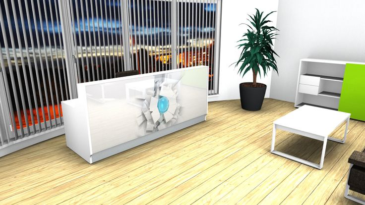 How much your office says about you? Reception desks with graphics are the way of personalizing your work place.LINEA by MDD