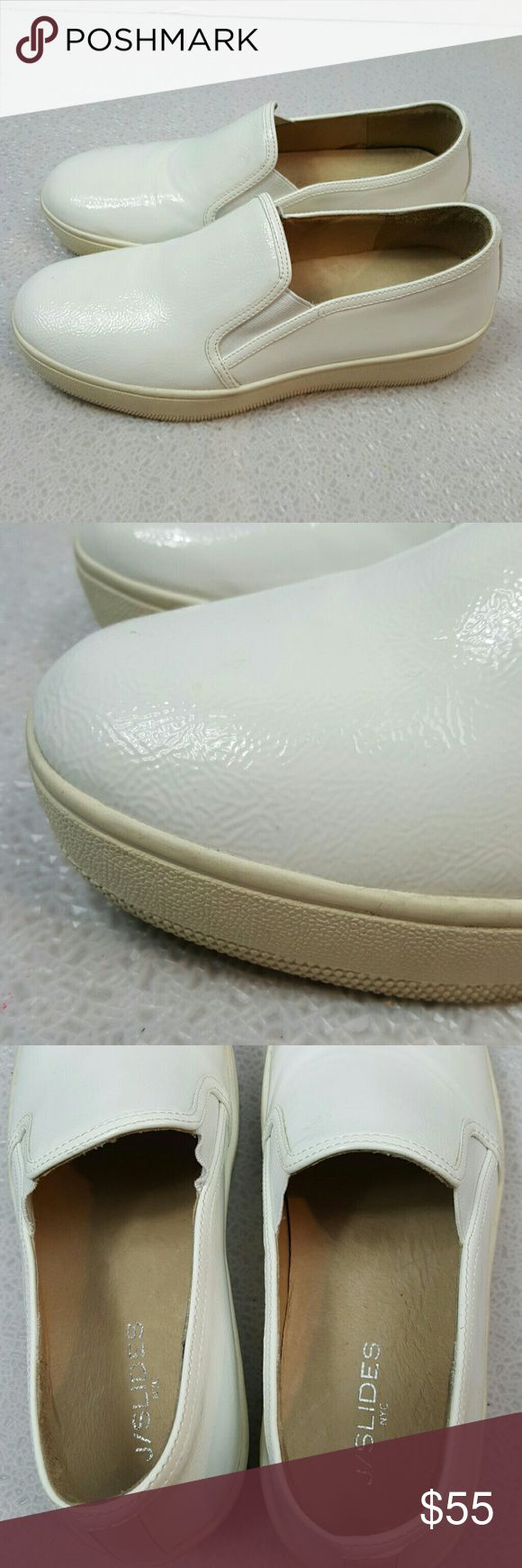 J/Slides NYC leather comfy loafers slip ons In gently pre owned condition J/Slides Shoes Flats & Loafers