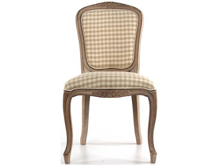 Krzesło Drewno Bielone