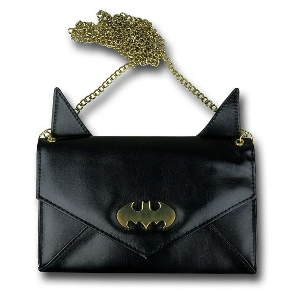 Put Your Money in this Batman Eared Envelope Wallet with Chain. It'll be safe, but watch out for jokers.