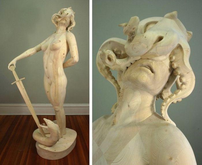 Деревянные фигуры скульптора Morgan Herrin
