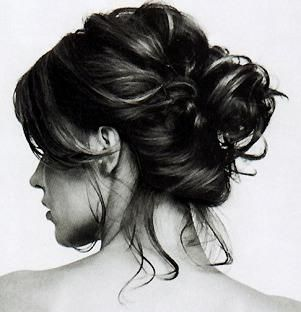 Totally enamored with messy buns.