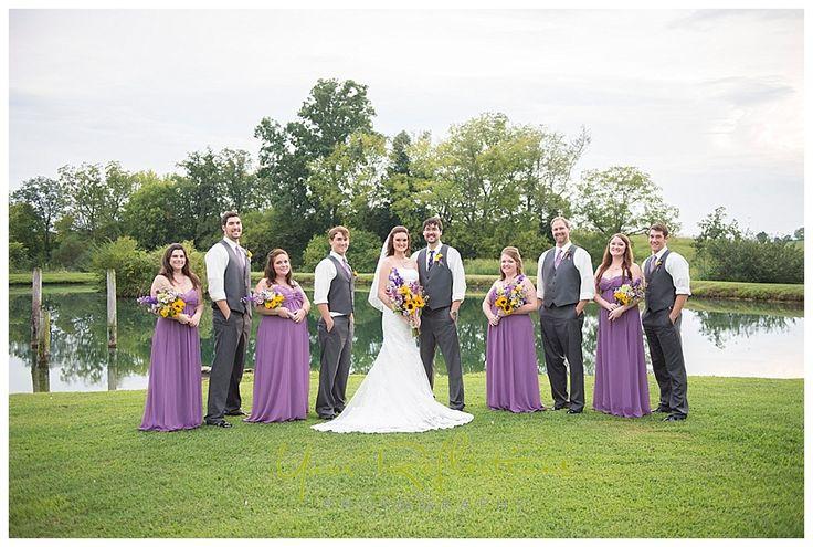 bridal party at twin cedar farm @ambm1989