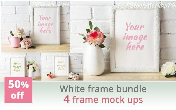 White frame bundle by TSTStockMockupPhotos on @creativemarket